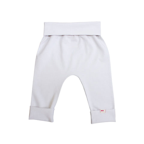 expandable cream baby pants organic cotton