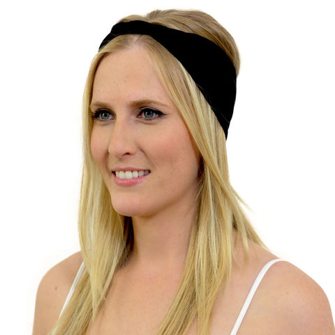 wide black headbands for women