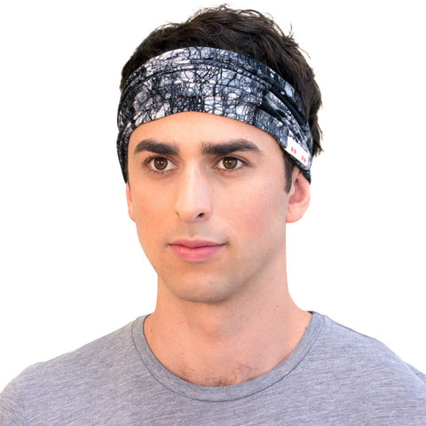 Cool Black Headbands For Men Hand Dyed Sports Headbands