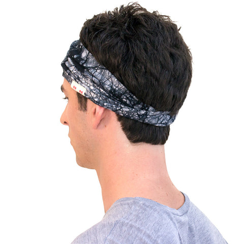 how to wear a headband for men, black and white