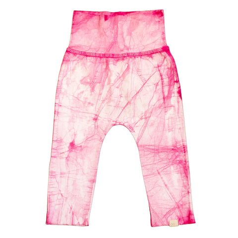organic cotton pink baby pants