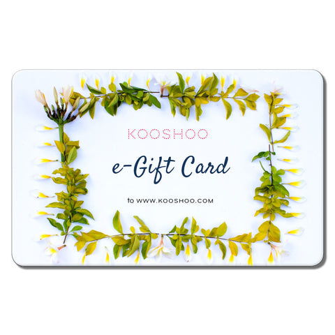 KOOSHOO eco clothing ecommerce gift card