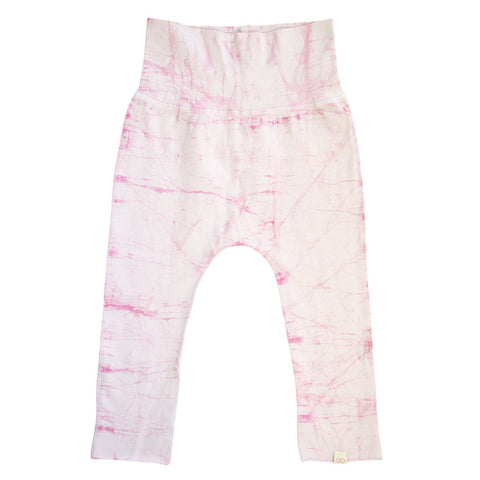 organic cotton pink pants for little girls