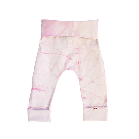 Expandable pink leggings for babies toddlers and preschoolers