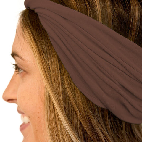 Brown twist headband for women