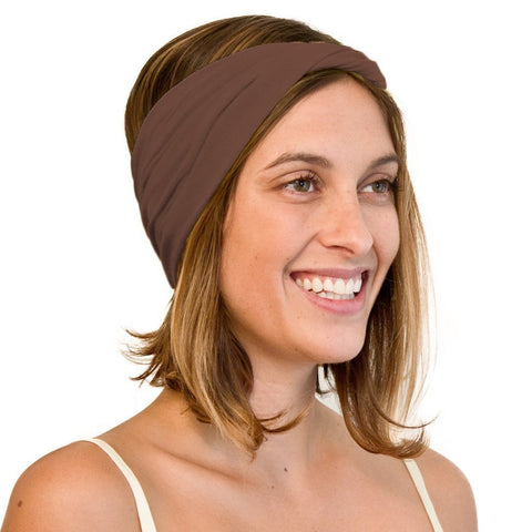 Brown boho headband for women