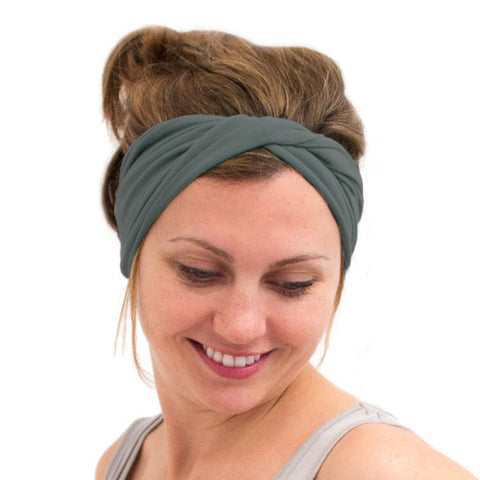 women's twist headwrap green