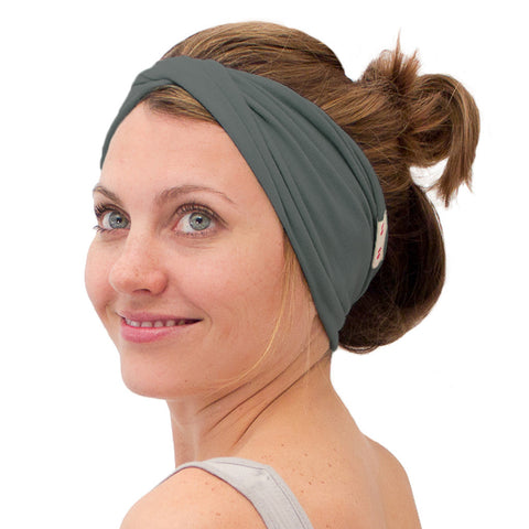 Organic women's headband green