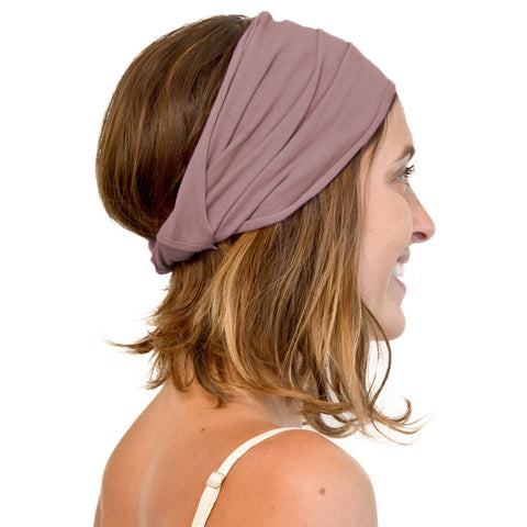 Organic cotton women's head wrap purple
