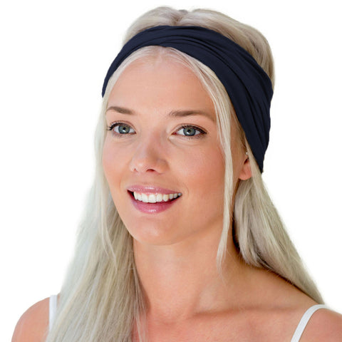 TWIST HEADBAND navy blue