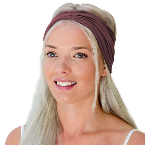 Boho women's head wrap in pink