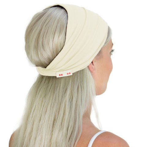 Wide organic cotton headband for women
