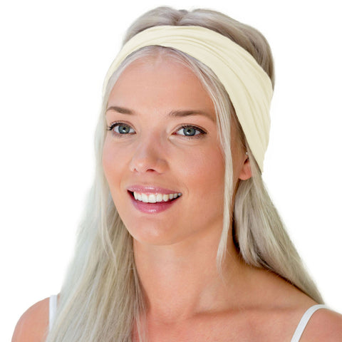 Women's headband in neutral color