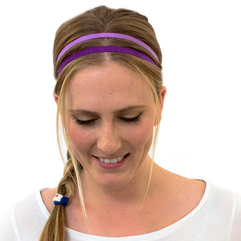 purple headbands for yoga