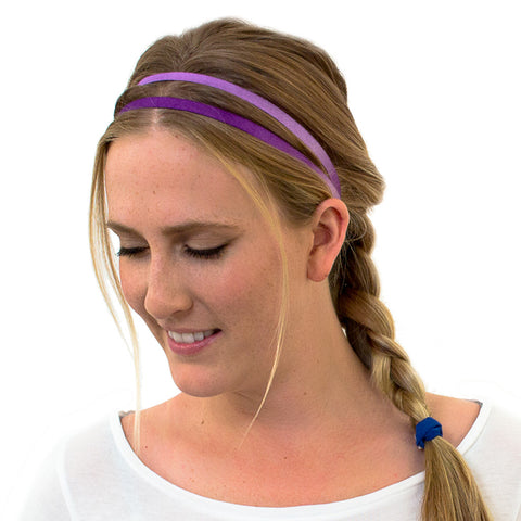 purple headbands for sports