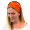wide orange sports headbands