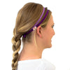 purple sweatband for women