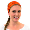 girls soccer headbands, orange