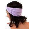 purple boho headbands, organic cotton