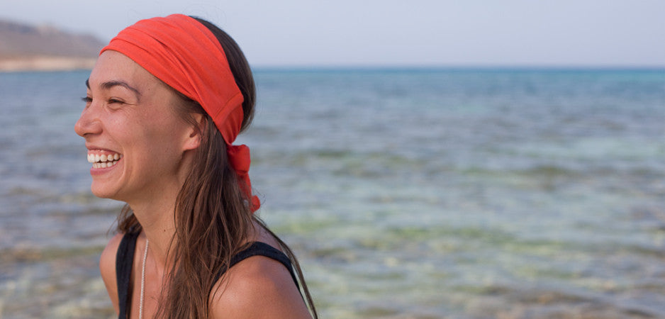 orange bandana headband