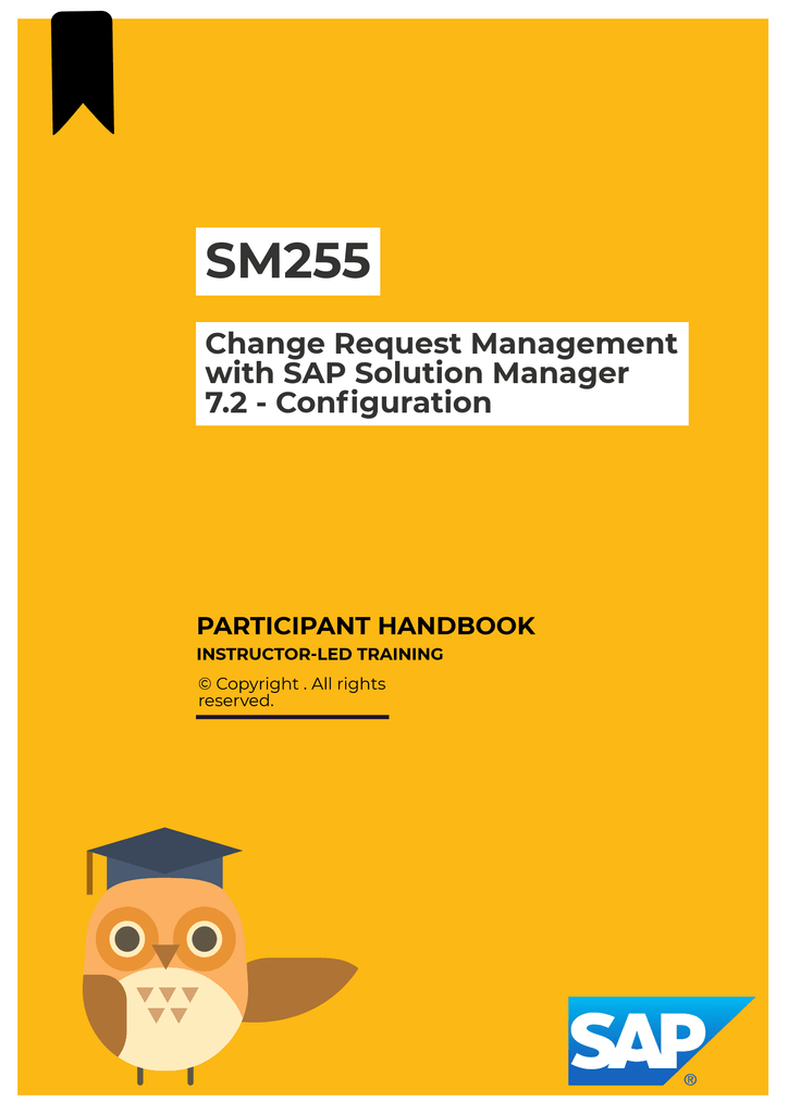 SM255 Change Request Management with SAP Solution Manager 7 2 -  Configuration GTR
