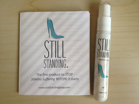 still standing foot spray feet toes relief relieve foot pain prevent foot pain hurt aching ache high heels stilettos