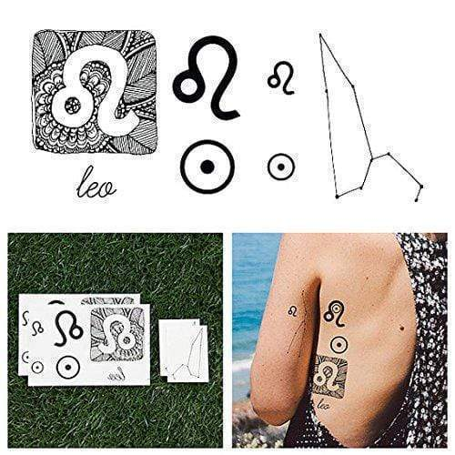 Astrology Collection Leo Temporary Tattoo-Tattoo-Tattify