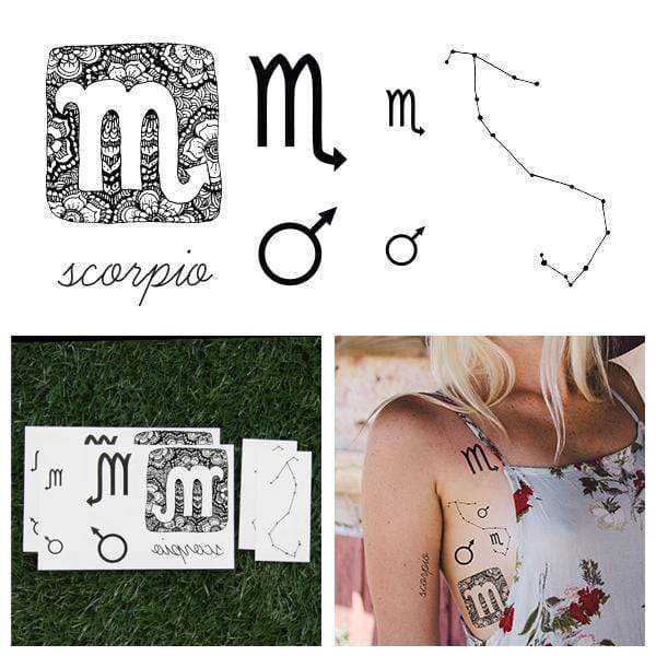 Astrology Collection Scorpio Temporary Tattoo-Tattoo-Tattify