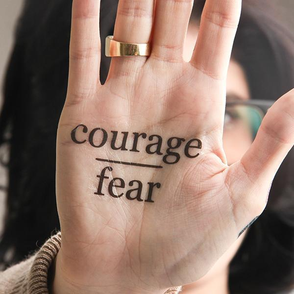Go Boldly - Courage Over Fear - Inspirational Temporary Tattoo (Set of 2)-Tattify