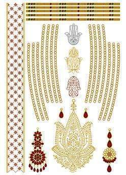 Indian Princess Sheet 4-Tattify