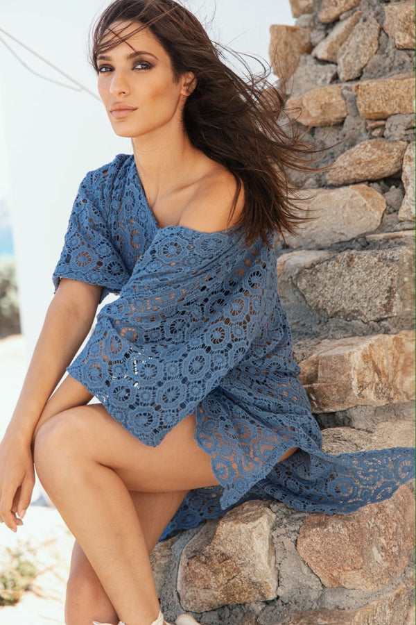 Lace beach tunic