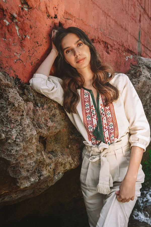 Fez embroidered blouse