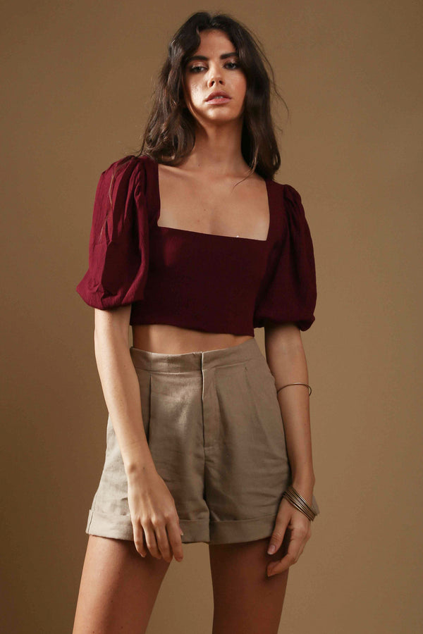 Crop-top Maria Burgundy