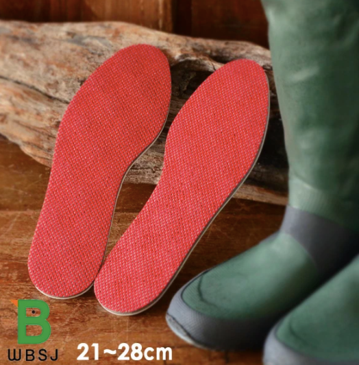 WBSJ Rain boots Sole Luck Warm -Insoles