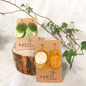 Agnit | Round Shell Earrings