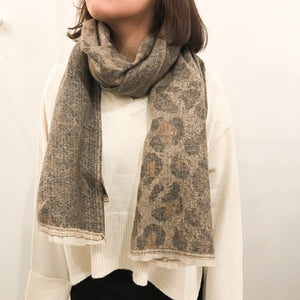 Open image in slideshow, SW | 40-7613 Animal Print Oblong Scarf