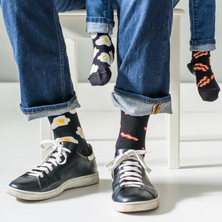 Friday Socks | Men's Bacon & Eggs