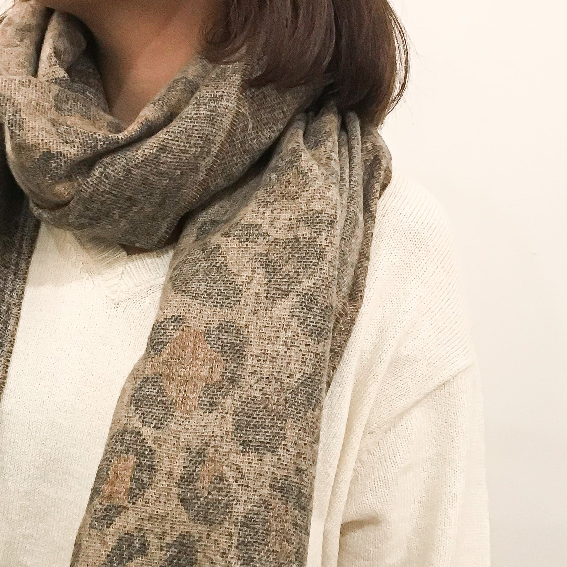 SW | 40-7613 Animal Print Oblong Scarf