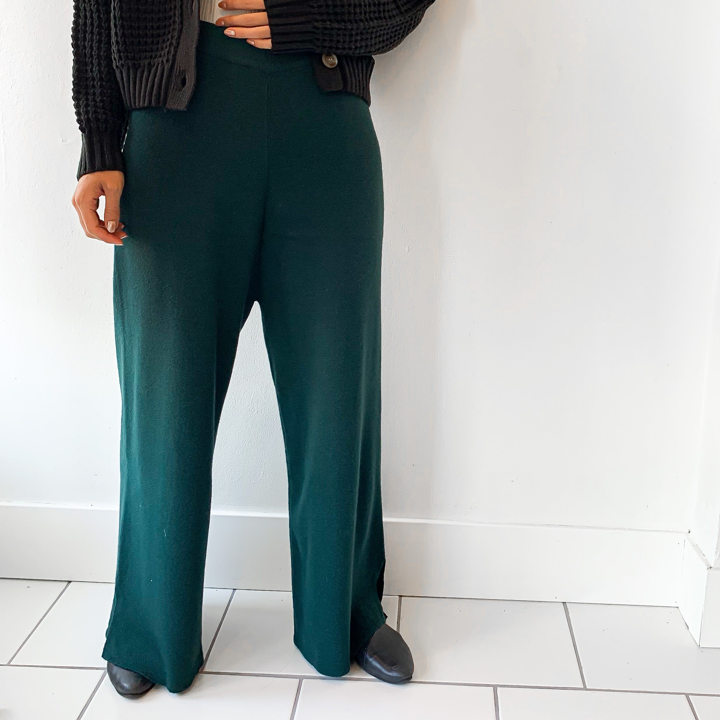 SH | Longtemps Wide Pants - GREEN