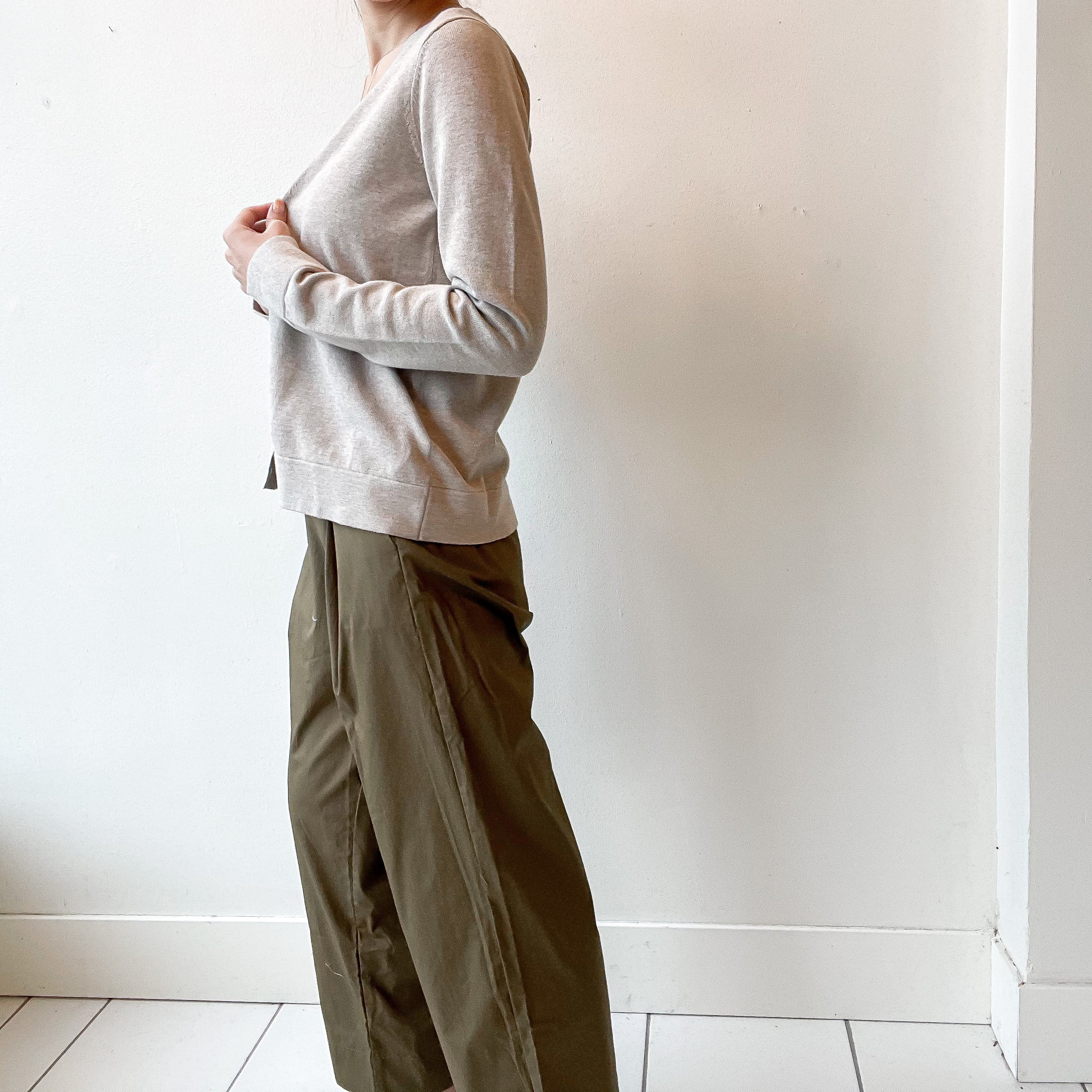 thought | Maddalena Organic Cotton Trousers - Brown