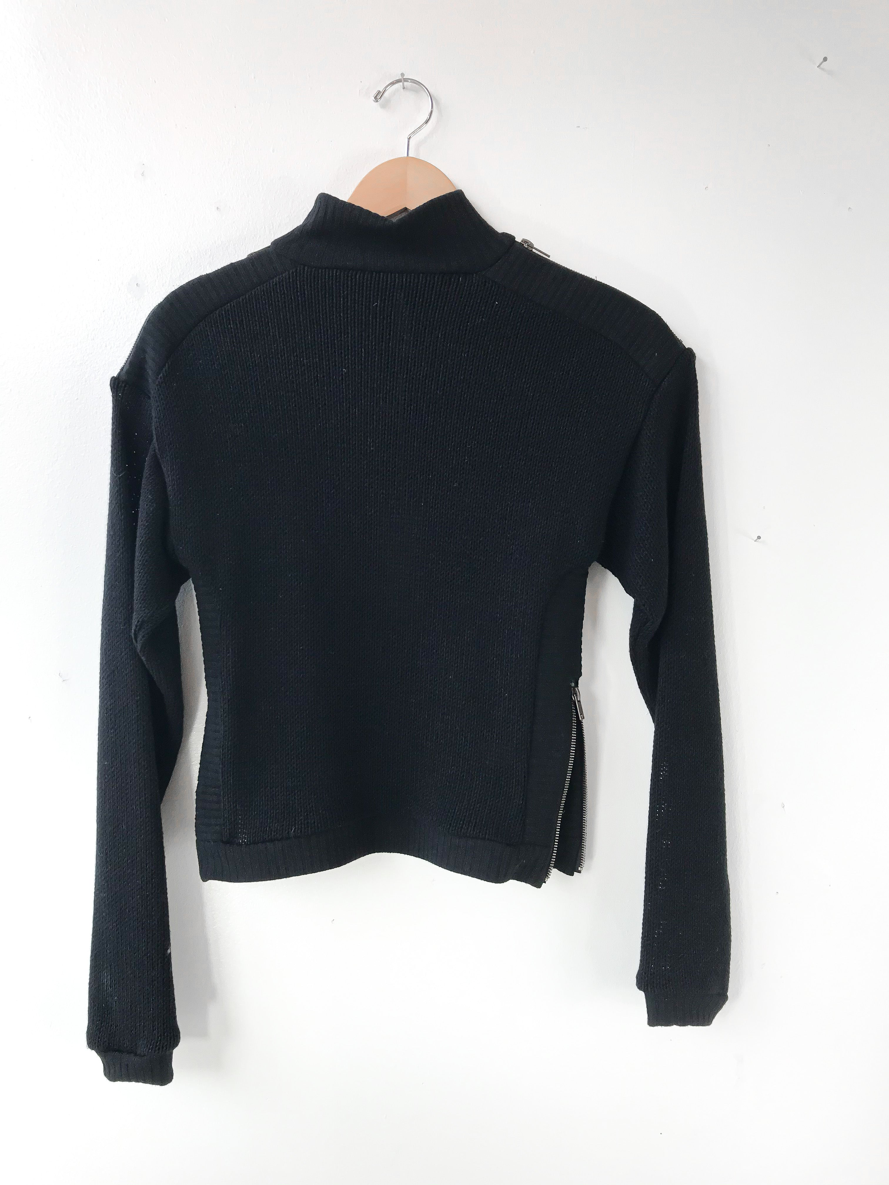 MELOW | ZOLA Turtle neck sweater - NOIR