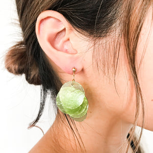 Open image in slideshow, Agnit | Round Shell Earrings