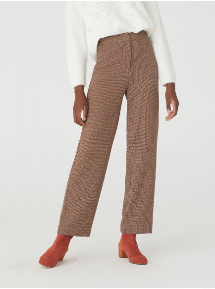 nice things | Checked Oppenheim wide pants - Brown