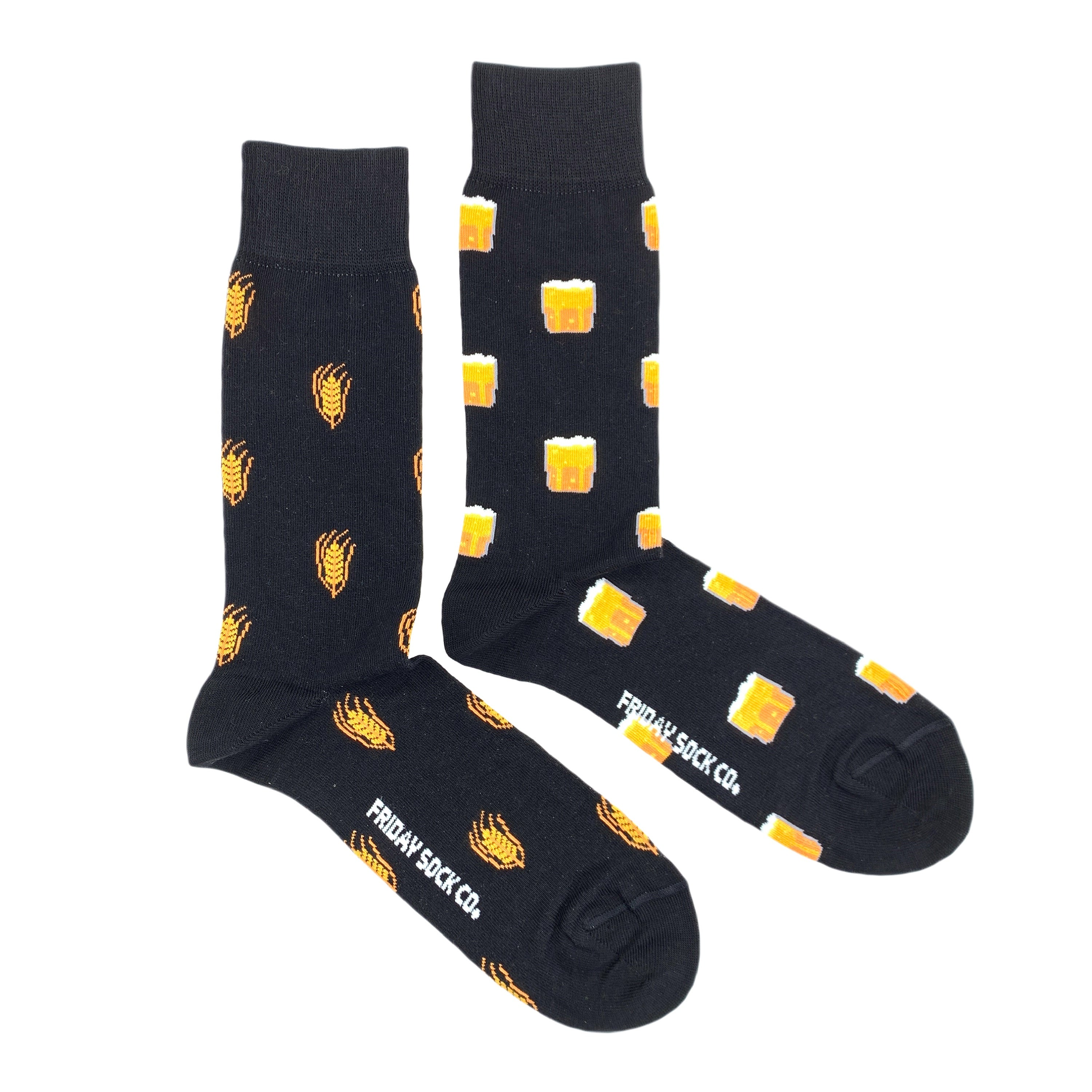 Friday Socks | Men's Beer & Barley Black Socks