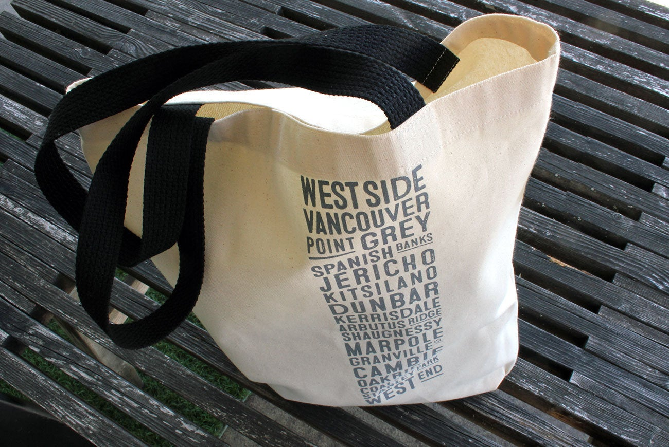 RIDING THE PINE | Vancouver Bus Shopping Bag