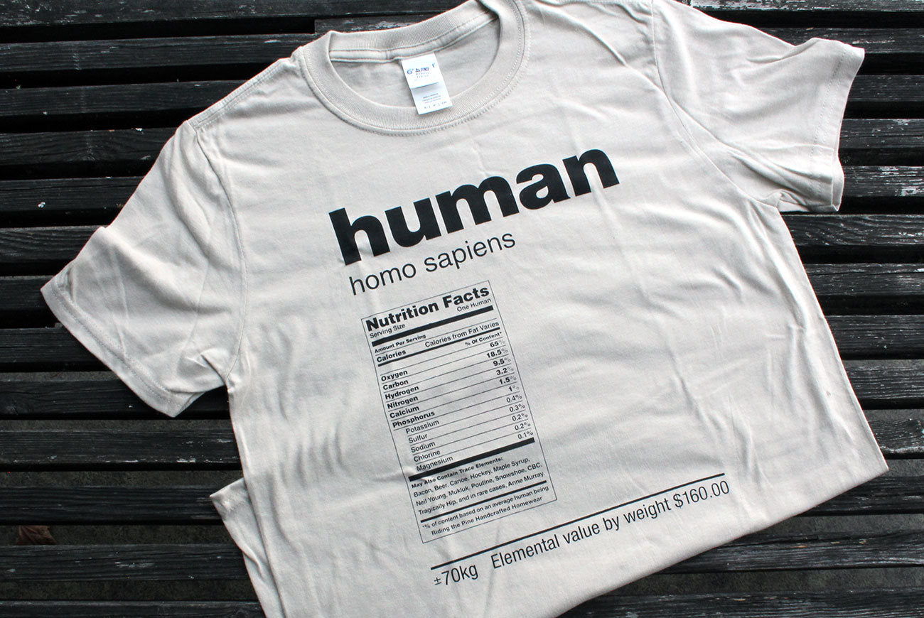 RIDING THE PINE | Human T-shirt - WHITE