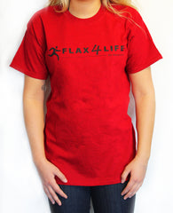 Flax4Life T-Shirt-Red Unisex