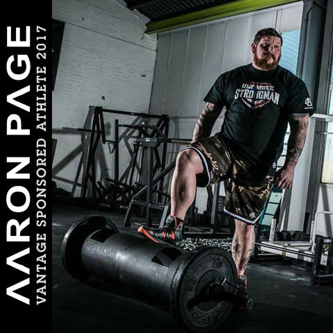 Aaron Page - Vantage Sponsored Athlete - UK Strongman Competitor