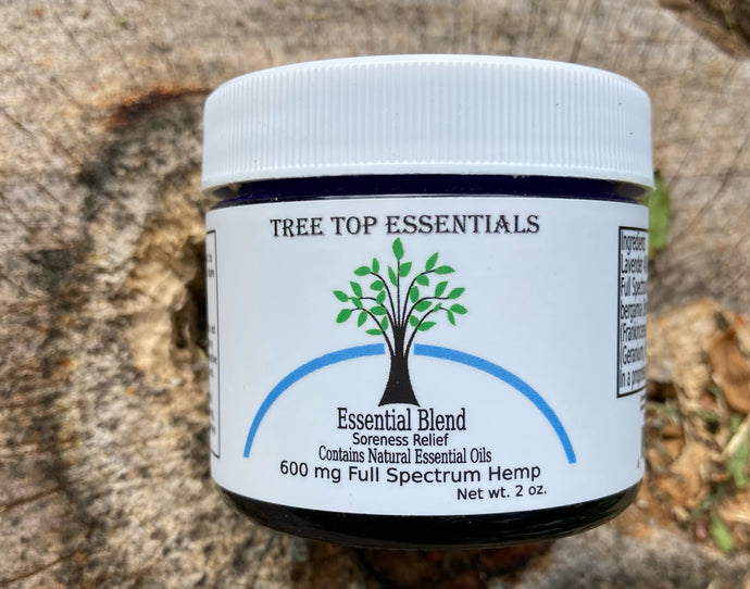 Essential Blend Soreness Relief with 600 mg Full Spectrum Hemp