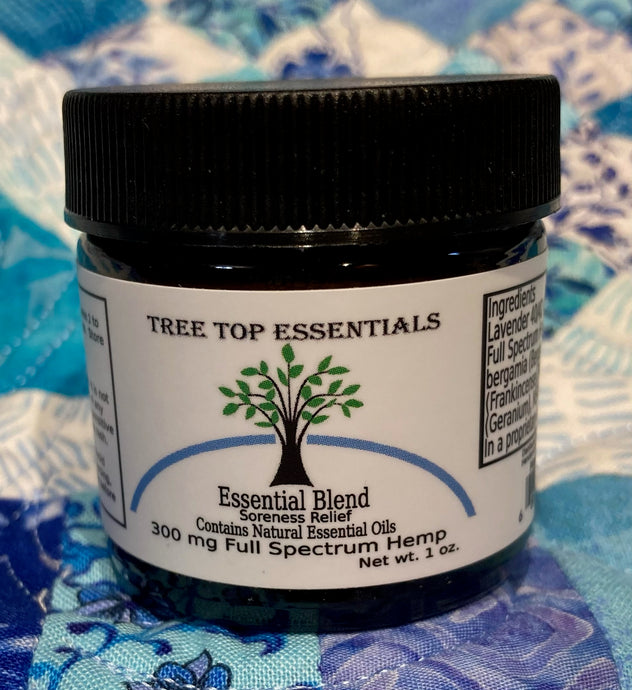 Essential Blend Soreness Relief with 300 mg Full Spectrum Hemp